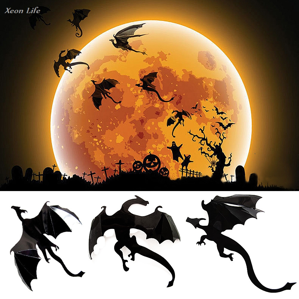 2017 New Arrival Festive Wall Sticker 7pcs Skillful Knitting And Elegant Design Lot Gothic Wallpaper Stickers Game Power Inspired 3d Dragon Decoration To Be Renowned Both At Home And Abroad For Exquisite Workmanship