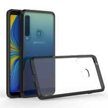 Hybrid Shockproof Cover Air Cushion Bag Case With Acrylic Crystal Clear Back Shell For Samsung Galaxy A9 2018 A9s Star Pro
