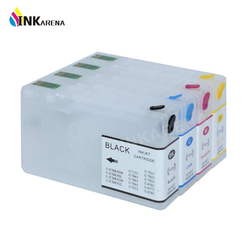 Empty T7011 T7021 Refillable Cartridge for Epson WorkForce Pro WP-4000 WP-4500 WP-4015 WP-4025 WP-4515 WP 4525 4535 4545 Printer