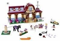 Bela 10562 Friends Heartlake Riding Club Horse Stables Building Block Set Mia Stephanie Girls Toys Compatible