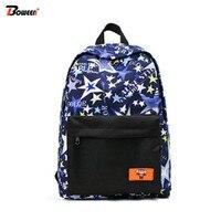 College Canvas School Bags for Teenage Girls Flower Printing Backpack Women Bookbags Junior High Fashion Bag School