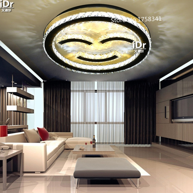 led lighting for living room affordable decorating ideas modern minimalist happy smiling face restaurant lights bedroom crystal lamp ceiling light