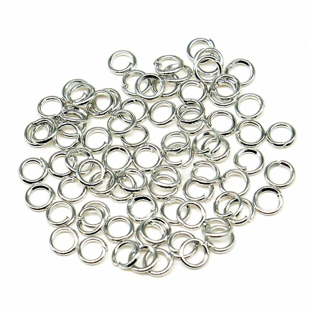 200pcs 5 Colors Single Loops Jump Rings Split Ring Jewelry Findings & Components 3mm 4mm 5mm 6mm 7mm 8mm 9mm 10mm