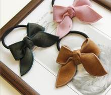New arrival young girls cute bows scrunchy children hair bands gum hair tie elastic bands for hair(China)