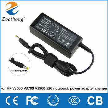 Laptop AC Charger Power Adapter Replacement 18.5V 3.5A 4.8*1.7mm 65W For HP Compaq 6720s 500 510 520 530 540 550 620 625 G3000 image