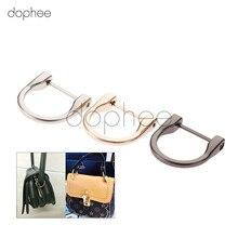 Dophee 2 шт. 38*38 мм Металлические пряжки d-образного кольца Съемная открывающаяся сумка кожаная сумка на плечо Сумочка ремень винт застежка DIY