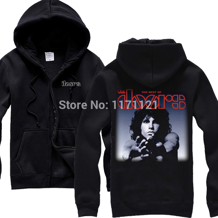 Free shipping NEW THE DOORS BAND CONCERT Heavy Metal BLACK HOODIE(China (Mainland)