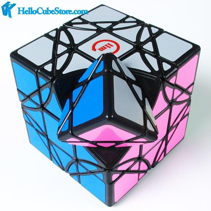 New Fangshi Funs Limcube Dreidel 3x3 Magic Cube Puzzle Black IQ Brain Cubos Magicos Puzzles Juguetes Educativos Special Toys(China)