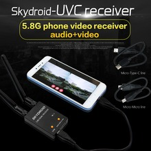 UVC Dual Antenna Control Receiver OTG 5.8G 150CH Full Channel FPV Receiver W/Audio For Android Smartphone eachine r051 150ch 5 8g av recevier build in bat for iphone android ios smart mobile phone tablet vs rotg01 uvc otg for rc toys
