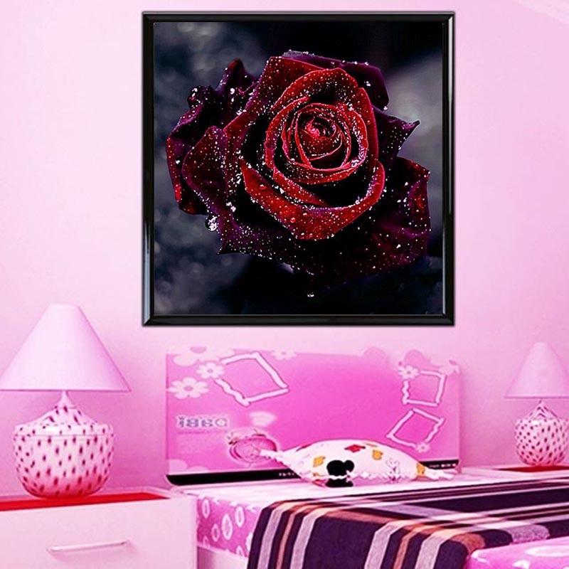 Teemantide tikandid 5D lille teemantide ristpistes kristalliga - Kunst, käsitöö ja õmblemine - Foto 3