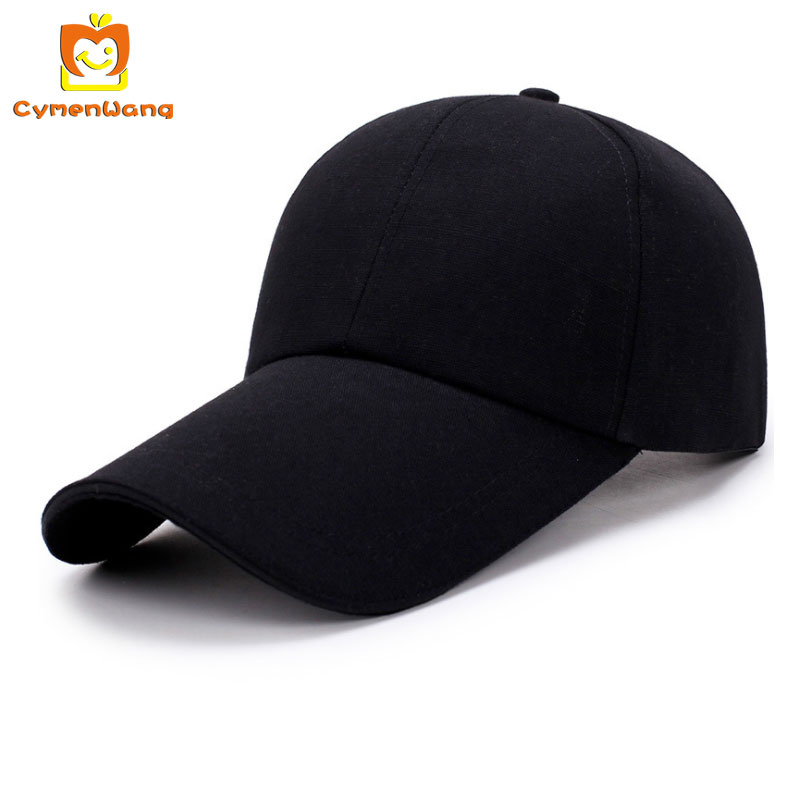 Cymenwany Golf Hats For Women Cap Baseball Caps Solid Sun Long Visor Hat Gorras Casquette Black Casual Snapback Baseball Cap brand bonnet beanies knitted winter hat caps skullies winter hats for women men beanie warm baggy cap wool gorros touca hat 2017