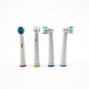 Image 4 - 4 adet elektrikli diş fırçası başı oral b elektrikli diş fırçası yedek fırça başkanları diş temizliği için