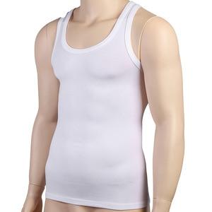 Image 2 - Mens Sleeveless Top Muscle Vest Shaping Corset Tight Slimming Body Shapewear  Slim Tummy Belly Undershirts O Neck Gymclothing