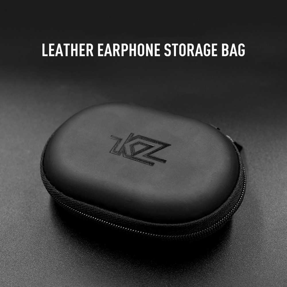 Kz Headphone Case Storage Bag PU Leather Portable Waterproof Headset Box and Dustproof  Resistant Earphone Protection Bag TSLM1