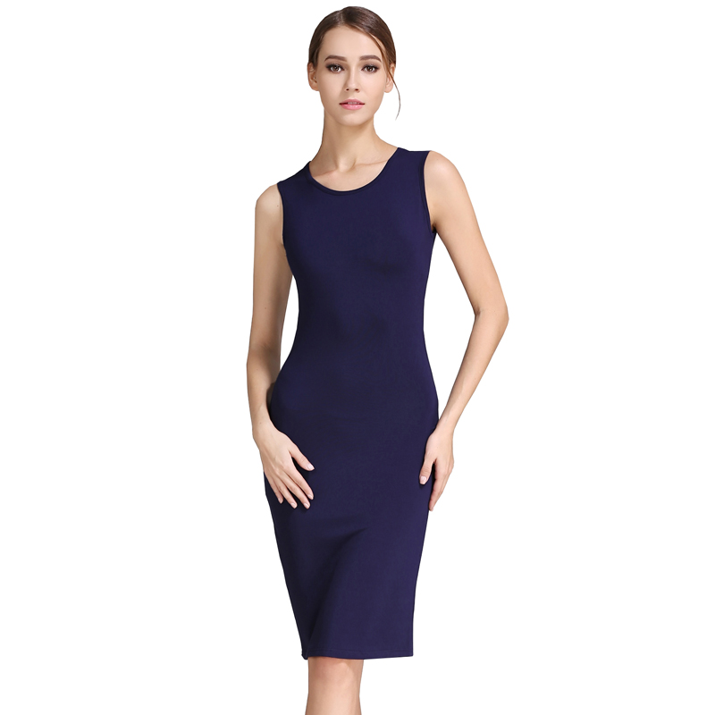 Buenos Ninos Women's Sleeveless Basic Slim Fit Stretch ...