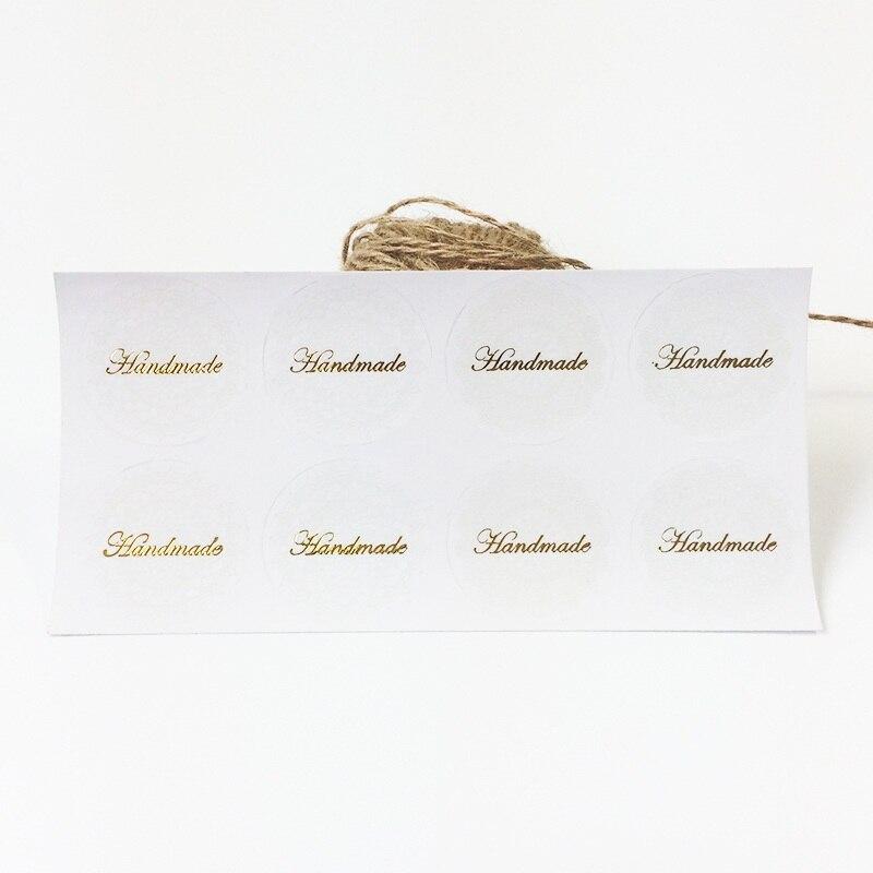 Купить с кэшбэком 80 Pcs/lot  White Lace Golden Handmade Seal Sticker Vintage DIY Scrapbooking Baking Gift Decoration Stickers For Wedding Seals