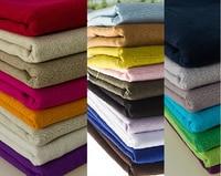 1 М/лот Сплошной цвет льняная ткань Sctapbooking diy аксессуары ткани Одежды (ss-001)