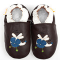 Bebê Sapatos de Couro Genuíno Plano Mocassins Casuais Sapatos Da Menina do Menino Da Criança Do Bebê Do Bebê Chinelos não-deslizamento Primeiro Walkers Calçado 0-4y