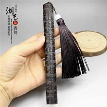 Ebony woodcarvings xiangyun joss stick cylinder with short tassel with fragrant incense seat Incense creative incense tube black rosewood and ebony incense box vertical wooden incense stoves send fragrant incense tube pin new