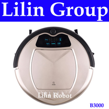 Robot Vacuum Cleaner,Two Side Brushes,LED Touch Screen.with Tone,HEPA Filter,Schedule,Remote Control, Virtual Blocker,SelfCharge