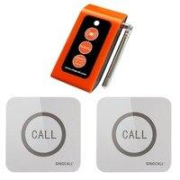 SINGCALL Беспроводная Система экстренного вызова, уход 2 сенсорные кнопки вызова медсестры, 1 пейджер