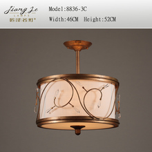 New  crystal ceiling light personalized vintage fabric ceiling light