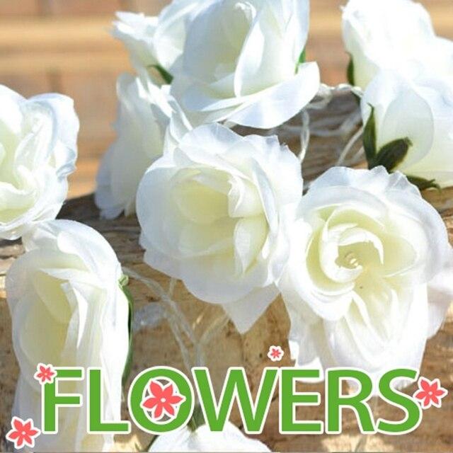 New Led Battery 2 M Pure White Flowers Light String Of Wedding