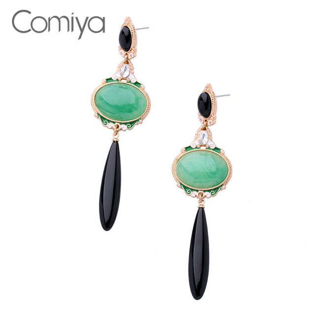 a4dee97712530 Comiya Elegant Accessories Dangle Earring For Women Artificial Stone ...