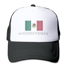 México Bandera de código de barras de los hombres de sombrero de malla  gorras de béisbol 43120757524
