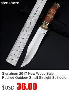 Купить Stenzhorn Новый Ограниченной Navajas Открытый самооборона Диких Небольшой Прямой Для Выживания Пустыне Фруктов Качество Хорошее Стальной Нож дешево