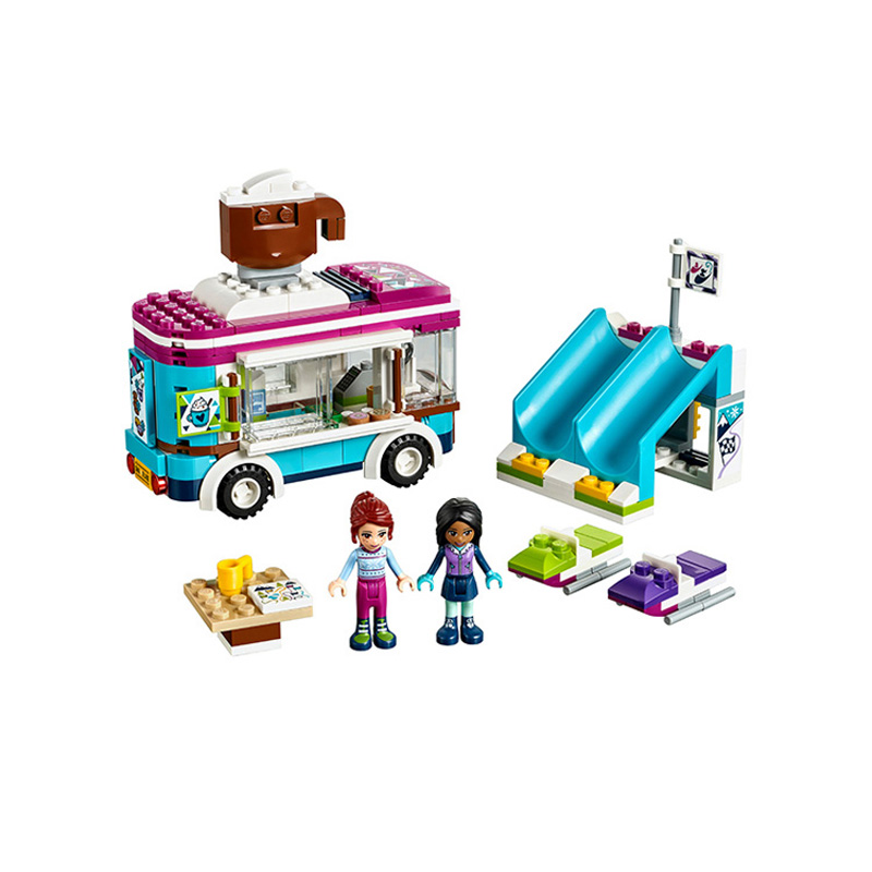 Aliexpress.com : Buy gifts Pogo Bela 10729 254PCS+ Girls Friends Snow Resort Hot Chocolate Van