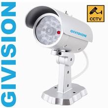fake dummy security camera home cctv surveillance outdoor waterproof bullet camera IR Red blinking LED motion detection sensor