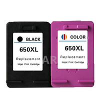 2PCS For HP 650XL Remanufactured For HP650XL For HP650 Ink Cartridge Deskjet 1015 1515 2515 2545