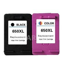 2 шт. для HP 650XL восстановленные для HP650XL для HP650 картридж Deskjet 1015 1515 2515 2545 2645 3515 4645 картриджи