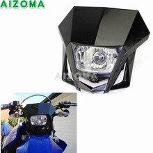 Preto Motocicleta Halogênio Farol Da Bicicleta Da Sujeira do Motocross Offroad Universal HS1 12 v 35 w Farol Carenagem Para Honda Yamaha Suzuki