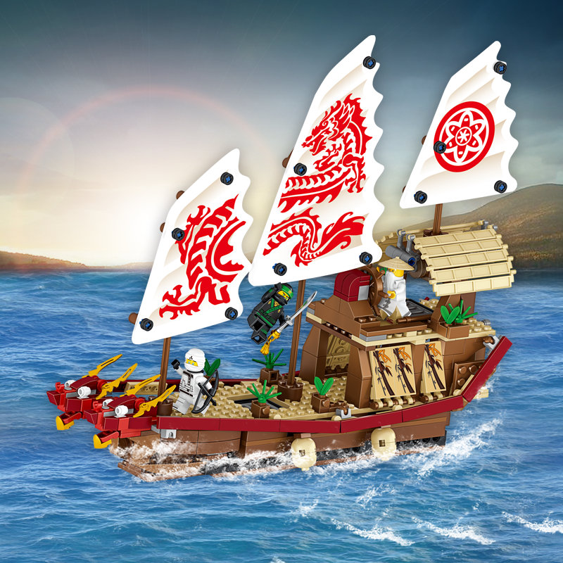 452 Pieces Educational Building Blocks Toys For Children Gifts Pirate Hero Ninja Dragon Ship Weapon Compatible with Legoe little white dragon assembling toys educational toys girl fantasy girls beach villa 423