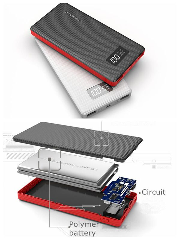 imágenes para Pineng 10000 MAH Banco de la Energía 10000 mah Powerbank 5 V 2.1A PN-963 para iPhone Xiaomi Huawei Samsung Meizu Teléfono Tableta