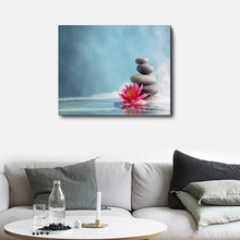 Laeacco Canvas Calligraphy Painting Stone Flower Posters and Prints Wall Pictures for Living Room Decoration Nordic Home Decor