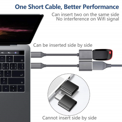 USB Type-C 3.1 to USB 3.0 OTG Cable Adapter Connector For Samsung A5 A8 S8 LG G6 Connect compatible phones tablets laptops  56# Karachi