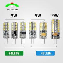 G4 led smd 3014 2835 ac dc 12v 220v 3w 5w 9w substituição 10w lâmpada de halogêneo 20w 30w, lâmpada led luzes de natal ângulo 360 feixe