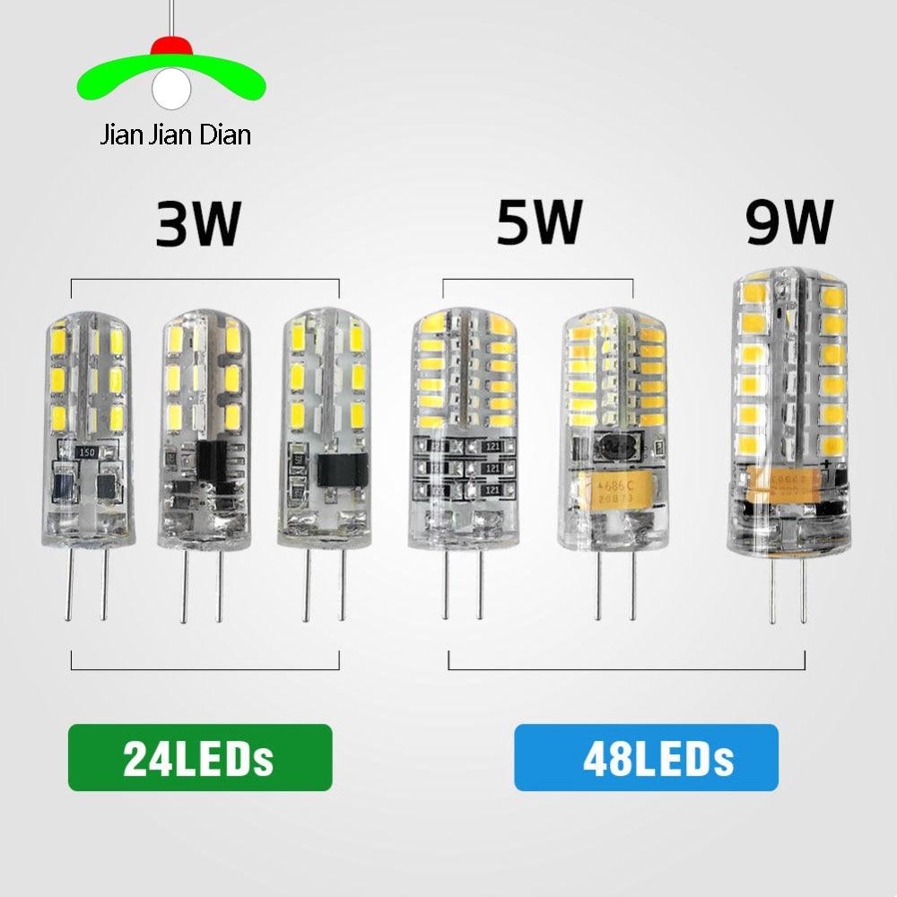 G4 led smd 3014 2835 ac dc 12 v 220 v 3 w 5 9 substituir 10 20 30 lâmpada halógena luz 360 ângulo de feixe natal lâmpada led