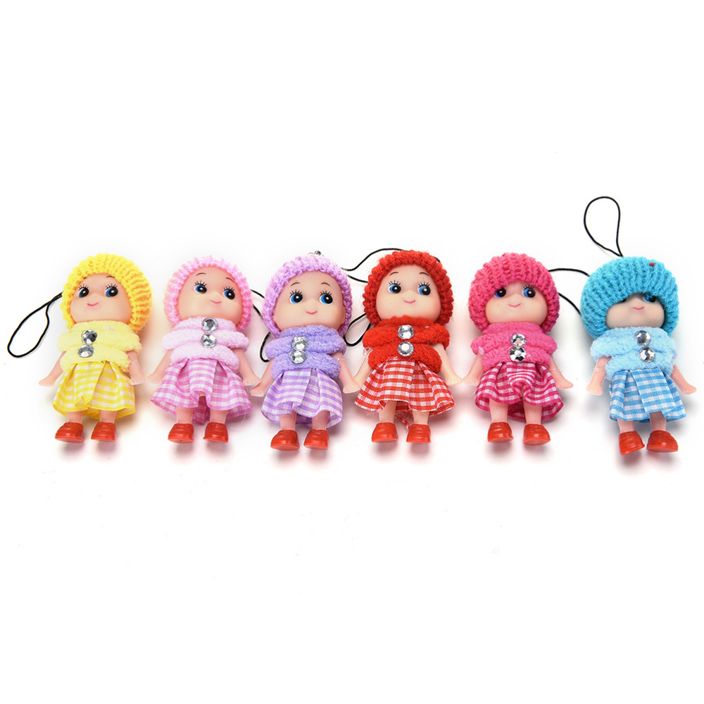 1pcs Cute Mini Dolls Pendant Gift For Mobile Phone Straps Bags Part Accessories Decoration Cartoon Movie Plush Toy Luggage & Bags