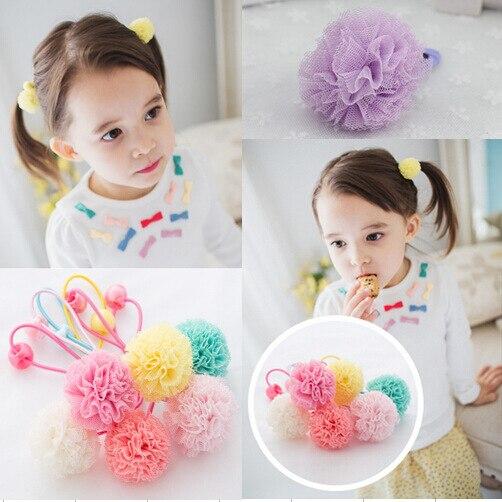 elastic band bracelet summer style hair accessories baby girl headband clips gum weave baffle braided bow bandana ornaments 6970