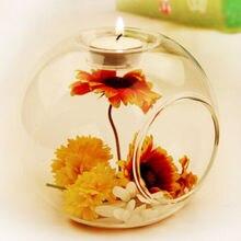 Горячая Романтический свадебный ужин Декор хрустальный стеклянный подсвечник