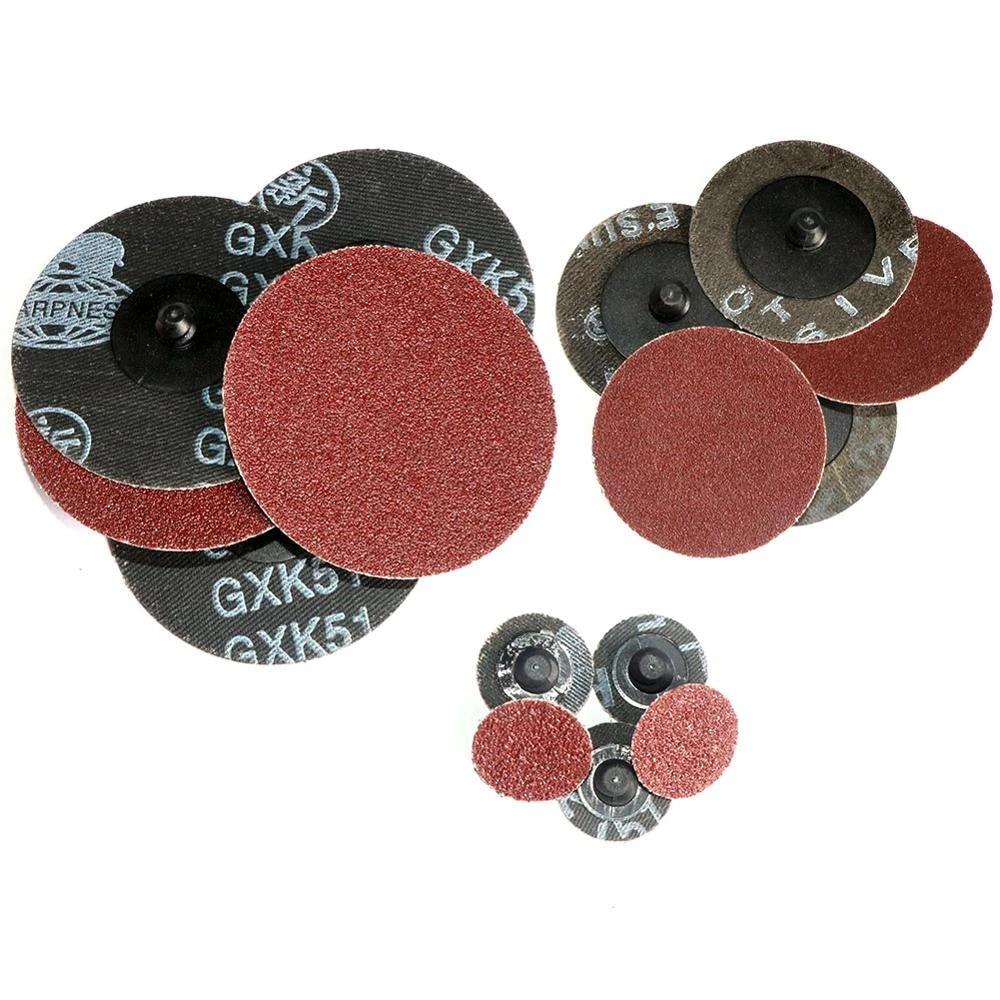 "50Pcs 2/"" Coarse Type R Roll Lock Sanding Disc Roloc Pads Grinding Abrasive 60#"