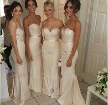 Amazing Beaded Sweetheart Strapless Long Mermaid Bridesmaid Dress Elegant Dress For Bridesmaid Vestidos De Fiesta WD17