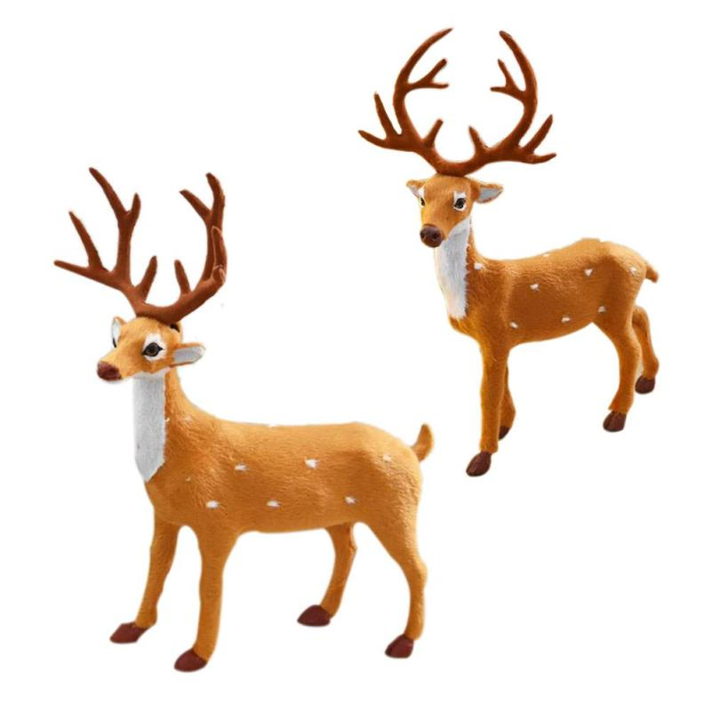 Christmas Reindeer Cute Deer Christmas Party Decor Ornament for Home Indoor Festival Party Decor Gift 3
