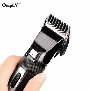 Image 2 - Tondeuse à cheveux professionnelle sans fil, appareil électrique 100 240 tondeuse à barbe V, 4 peignes avec coupe de cheveux S42