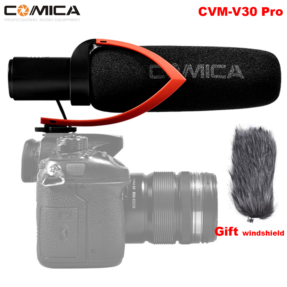 COMICA CVM-V30 Pro Red or Black Electric Super-Cardioid Directional Condenser Video Microphone for Video Shooting and CamcorderCOMICA CVM-V30 Pro Red or Black Electric Super-Cardioid Directional Condenser Video Microphone for Video Shooting and Camcorder