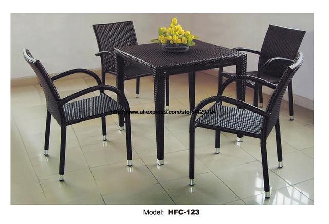 448 41 Classique Amrest Chaise Carre Table Basse The Table Combinaison Usine Promotion Forte Structure En Fer Jardin Balcon Meubles Dans Jardin